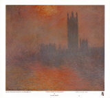 El Parlamento de Londres Láminas por Claude Monet