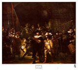 Yövartija Posters tekijänä  Rembrandt van Rijn