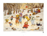 Bear Feats on Ice Prints by Susan Anderson