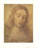 Christ's Head Plakater av  Leonardo da Vinci