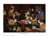 His Station And Four Aces Schilderijen van Cassius Marcellus Coolidge