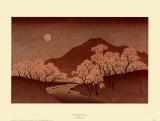 Körsbärsblommor Affischer av Ando Hiroshige