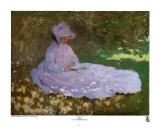 Printemps Poster par Claude Monet