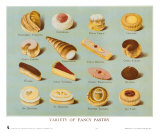Variety of Fancy Pastry Print