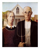 American Gothic, 1930 Plakater af Grant Wood