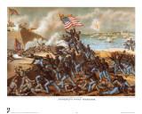 Storming Fort Wagner Plakater av  Kurz & Allison