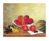 Stillleben mit roten Äpfeln Poster von William Galvez