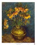 Bell Lilies in a Copper Vase Plakater av Vincent van Gogh