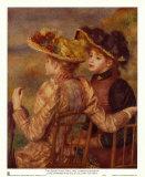 Jeunes filles assises Art par Pierre-Auguste Renoir