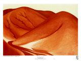 The Red Hills, Grey Sky Posters av Georgia O'Keeffe
