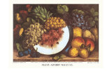 Fruits Autumn Varieties Láminas por Currier & Ives,