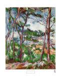 Paysage près d'Aix Affiches par Paul Cézanne