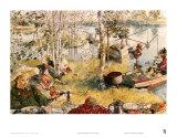 Crayfishing Plakater af Carl Larsson