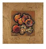 Granatäpfel und Trauben Poster von Karel Burrows