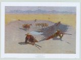 Fight for the Waterhole Posters av Frederic Sackrider Remington