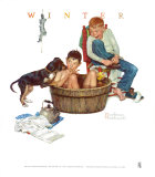 Lickin' Good Bath Prints by Norman Rockwell