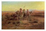 Exploradores Láminas por Charles Marion Russell