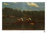 Les frères Biglin en course Affiches par Thomas Cowperthwait Eakins