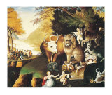 Peaceable Kingdom Poster af Edward Hicks