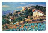Riviera Hillside Kunst af William Glackens