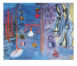The Basin at Deauville Plakater av Raoul Dufy