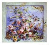 Roses dans une fenêtre Art par Pierre-Auguste Renoir