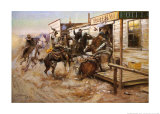 In Without Knocking Prints by Charles Marion Russell