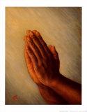 Praying Hands Affiches van Tim Ashkar