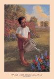 Bambino con annaffiatoio Stampe di Tim Ashkar