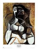 Frau in einem Lehnstuhl Kunst von Pablo Picasso