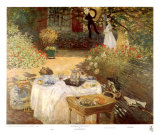 Luncheon in the Garden Poster por Claude Monet