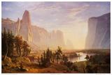 Vallée de Yosemite Poster par Albert Bierstadt