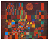 Château et soleil Posters par Paul Klee
