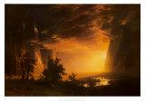 Coucher de soleil dans la vallée Yosemite, 1868 Posters par Albert Bierstadt