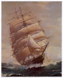 Romance of Sail Poster af Frank Vining Smith
