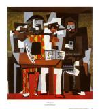 3人の音楽家 ポスター : パブロ・ピカソ