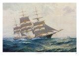 Verso orizzonti lontani, nave trionfante Poster di Frank Vining Smith