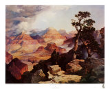 Clouds in the Canyon Poster van Thomas Moran