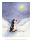 Little Penguin Art by  Makiko