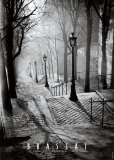 Escaleras de Montmartre, París Lámina por  Brassaï