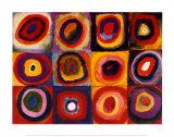 Estudo de cor quadrado, cerca de 1913 Pôsters por Wassily Kandinsky