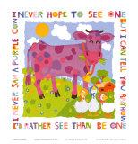 Purple Cow Posters por Cheryl Piperberg