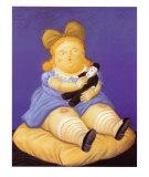 Die Puppe Poster von Fernando Botero