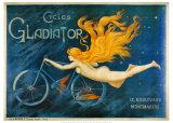Pyöräilevä gladiaattori, ranskaksi Julisteet tekijänä Georges Massias