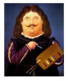 Porträt Diego Velazquez Poster von Fernando Botero