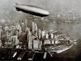 Zeppelin Over New York Poster