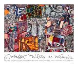 Minnets teater, 1977 Serigrafiprint (silkscreentryck) av Jean Dubuffet