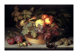 Cesta de fruta Láminas por Johannes Bosschaert