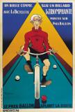 Bicyclette Sur Un Billard Arte