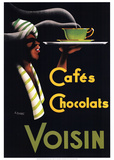 Cafes Chocolats Posters by Noel Saunier